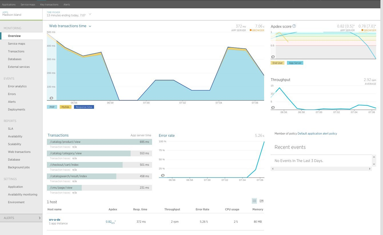 Screenshot 1: New Relic Dsahboard